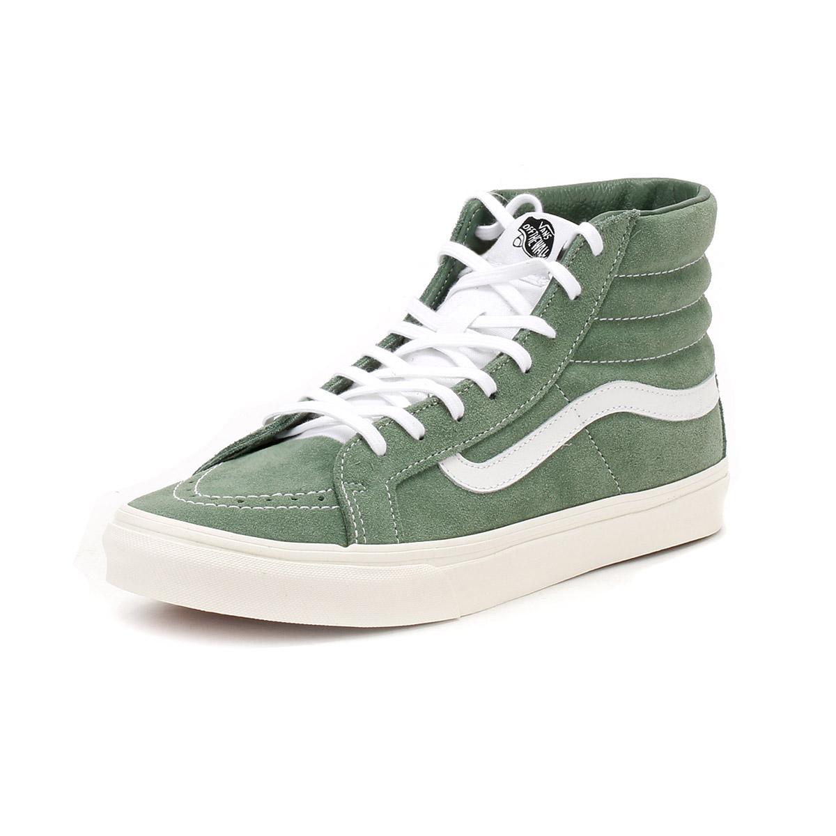 vans altas verdes mujer