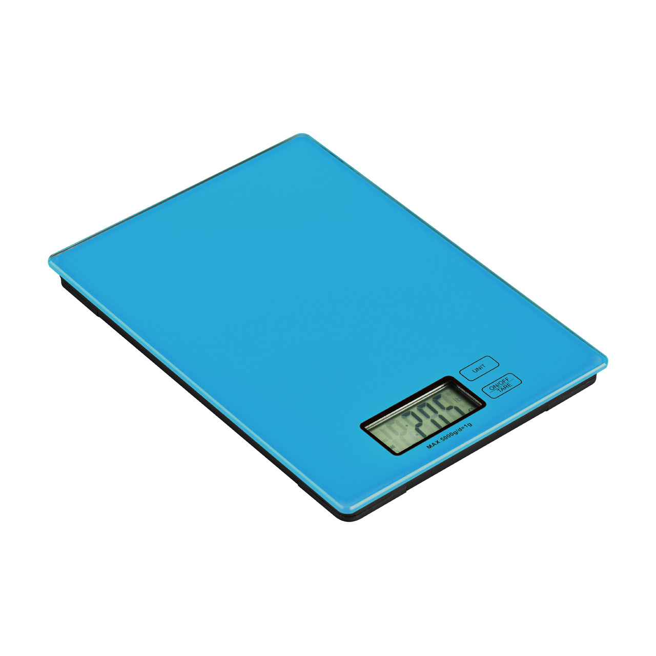 Zing Kitchen Digital Scale Blue Glass Electronic 5kg Food Weighing ...