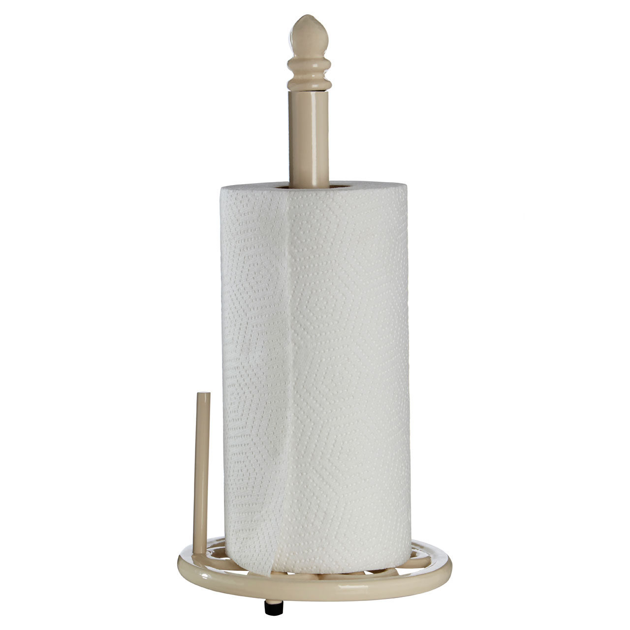 Premier Cream Cast Iron Kitchen Roll Holder Retro Tissue Paper Towel ...