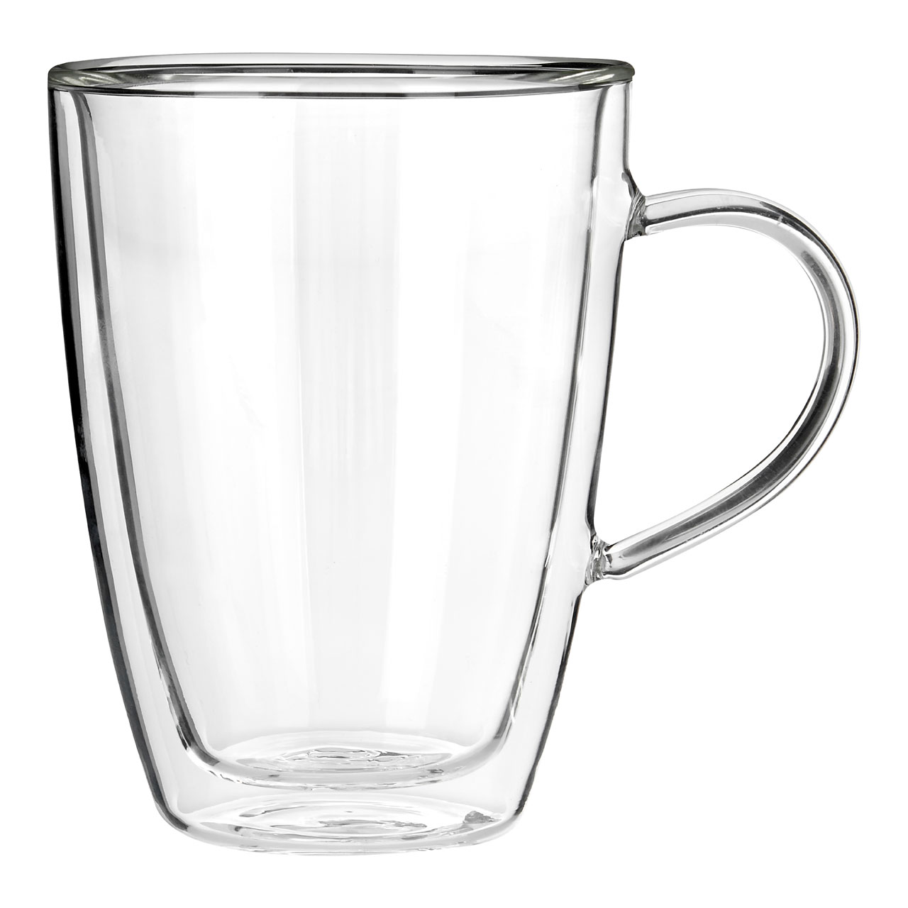 Details about Glass Coffee Mug 330ml Double Wall Tea Cup for Hot & Cold  Drinks