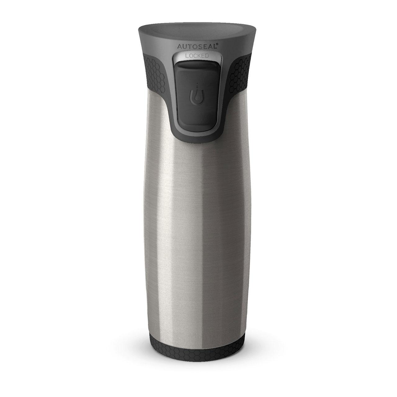 Cup Grey Insulated Tea Black 470ml Coffee Thermal About Details Contigo Autoseal Aria Mug eH2WEID9Y