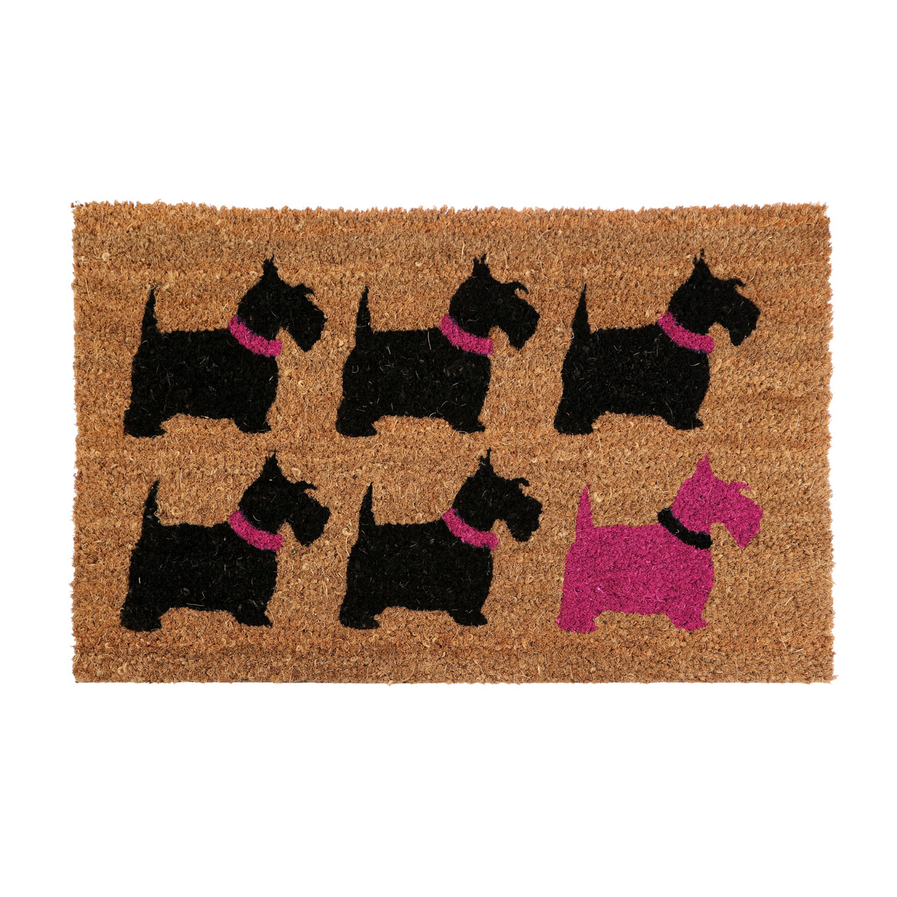 Brown Coir Doormat Scottie Dog Print Non Slip Base Floor Rug Jpg 1280x1280 Dog  Door Mat
