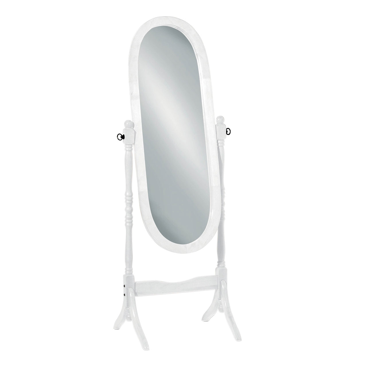 Premier Oval Cheval Mirror, Floor Standing, White Wood Oval Frame | eBay