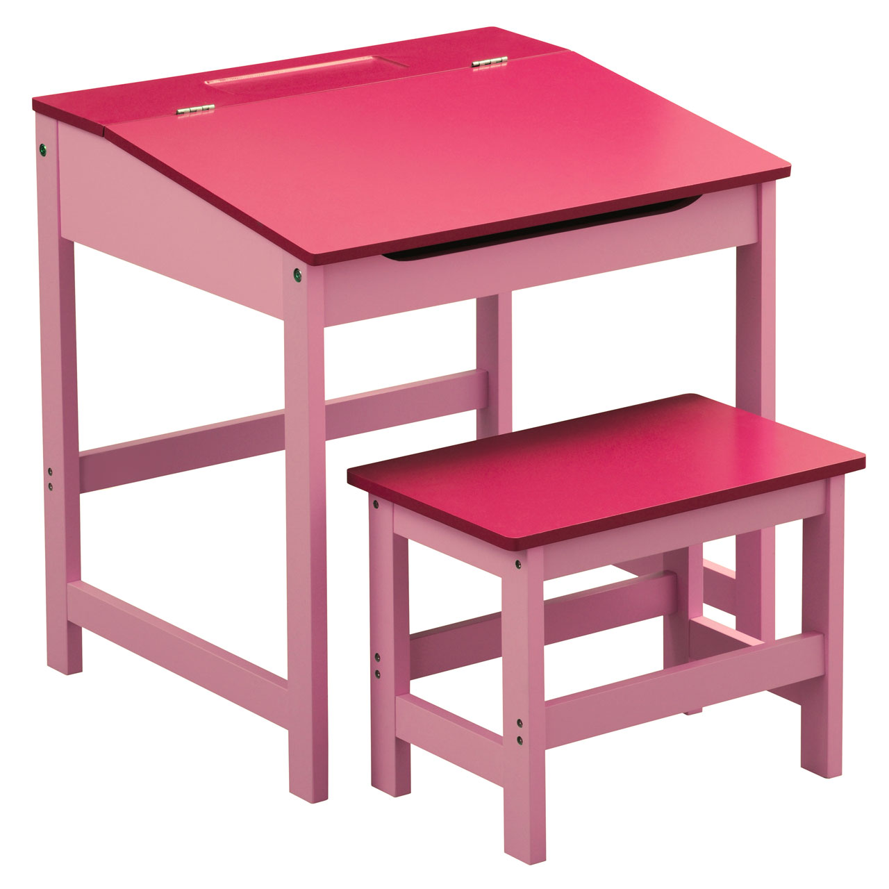 06ca03d17ae Children s Pink Wooden Desk   Stool Hinged Lid   Storage Organizing Rack  Unit