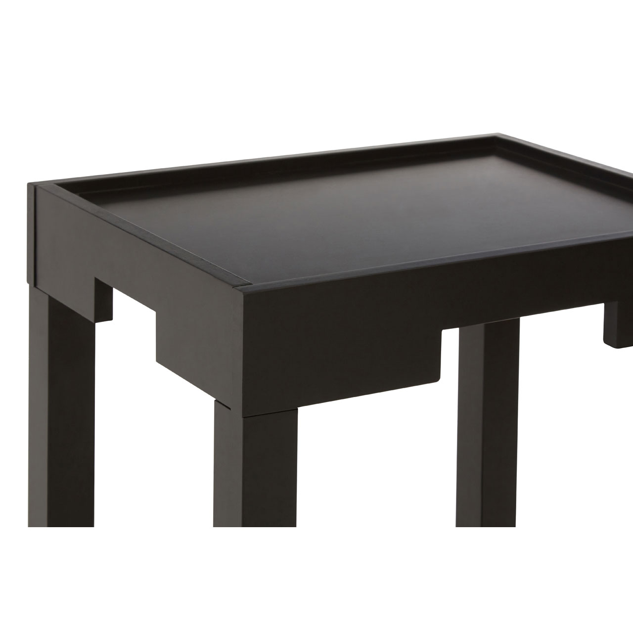 Black Coffee Table With Storage Uk: Home Hall Black Wooden Side End Coffee Table Storage Shelf