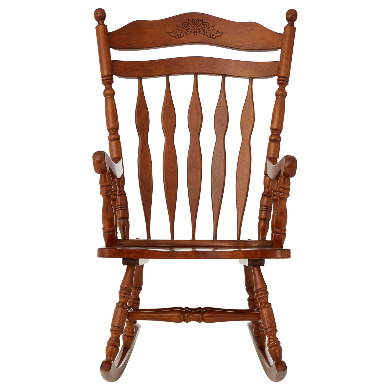Details about rubberwood rocking chair nursery stool furniture oak plywood rustic brown glider