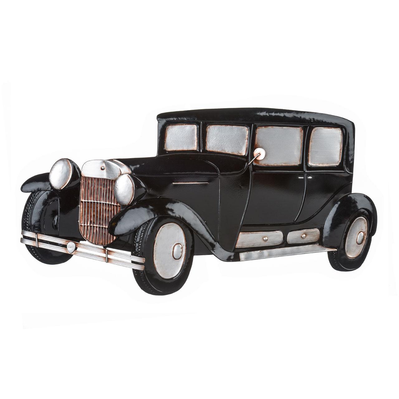 Premier Housewares Retro Car Wall Art, Metal, Vintage Style ...