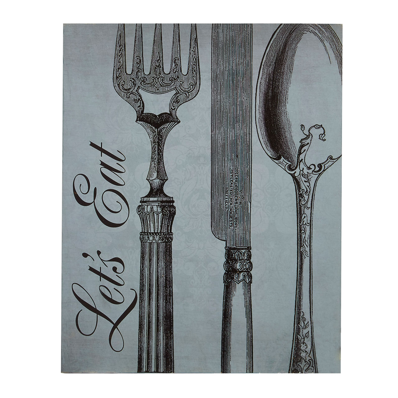 Let\'s Eat Wall Plaque Wooden Retro Vintage Style Kitchen Hanging Art ...