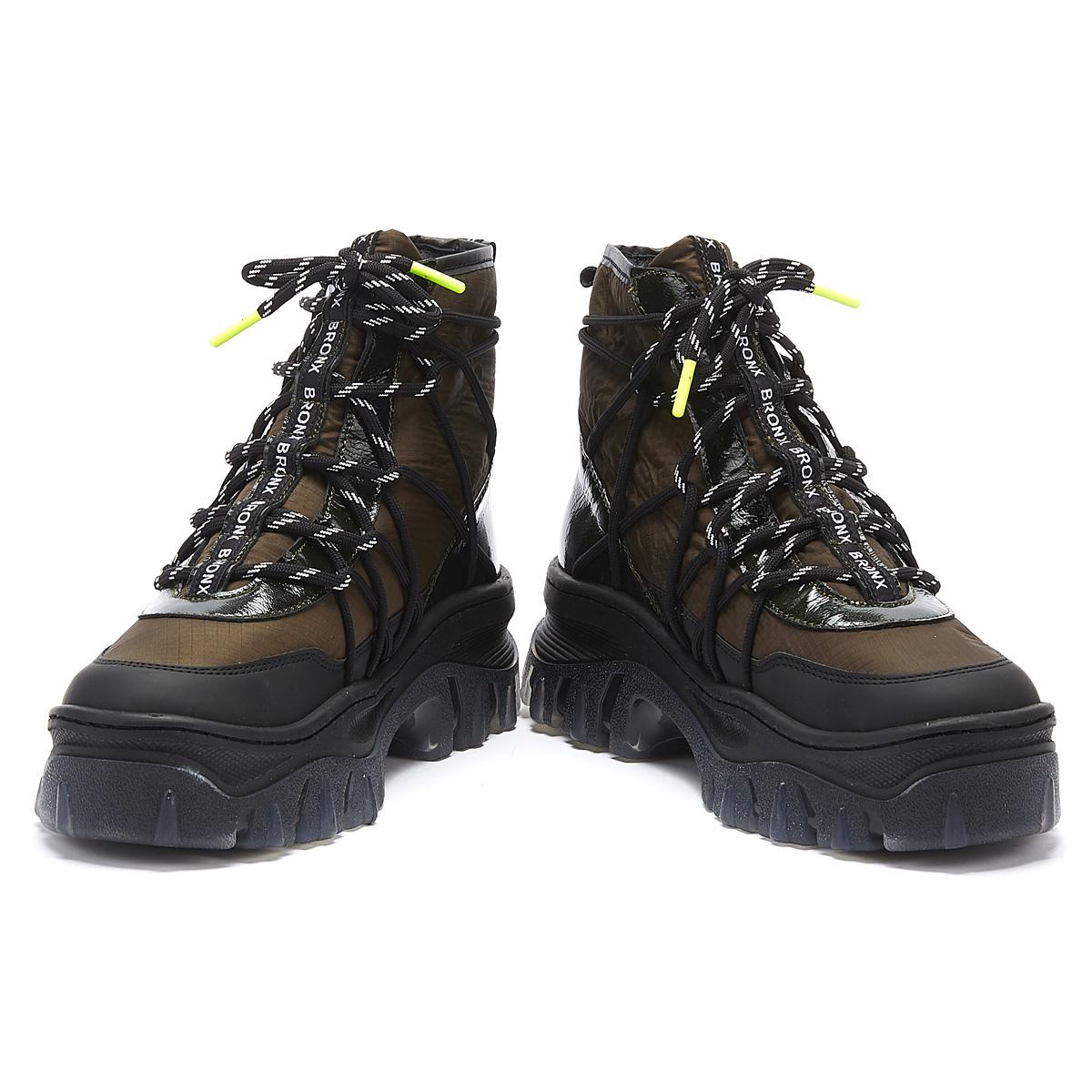 Khaki Platform Hiker Boots Ladies Shoes
