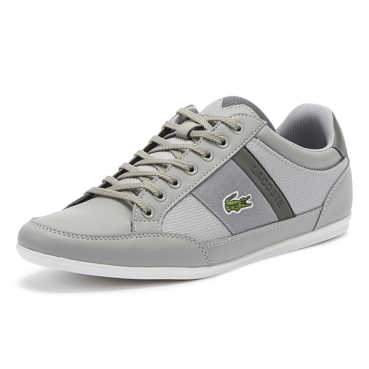 hot sale online classic style more photos Lacoste Chaymon 319 3 Mens Grey Trainers Lace Up Sport Casual ...