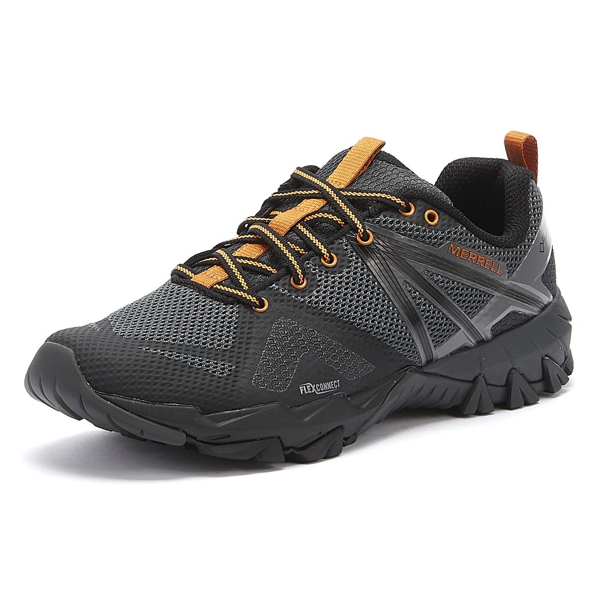 Merrell Mens MQM Flex GORE-TEX Walking Shoes Blue Green Yellow Sports Outdoors