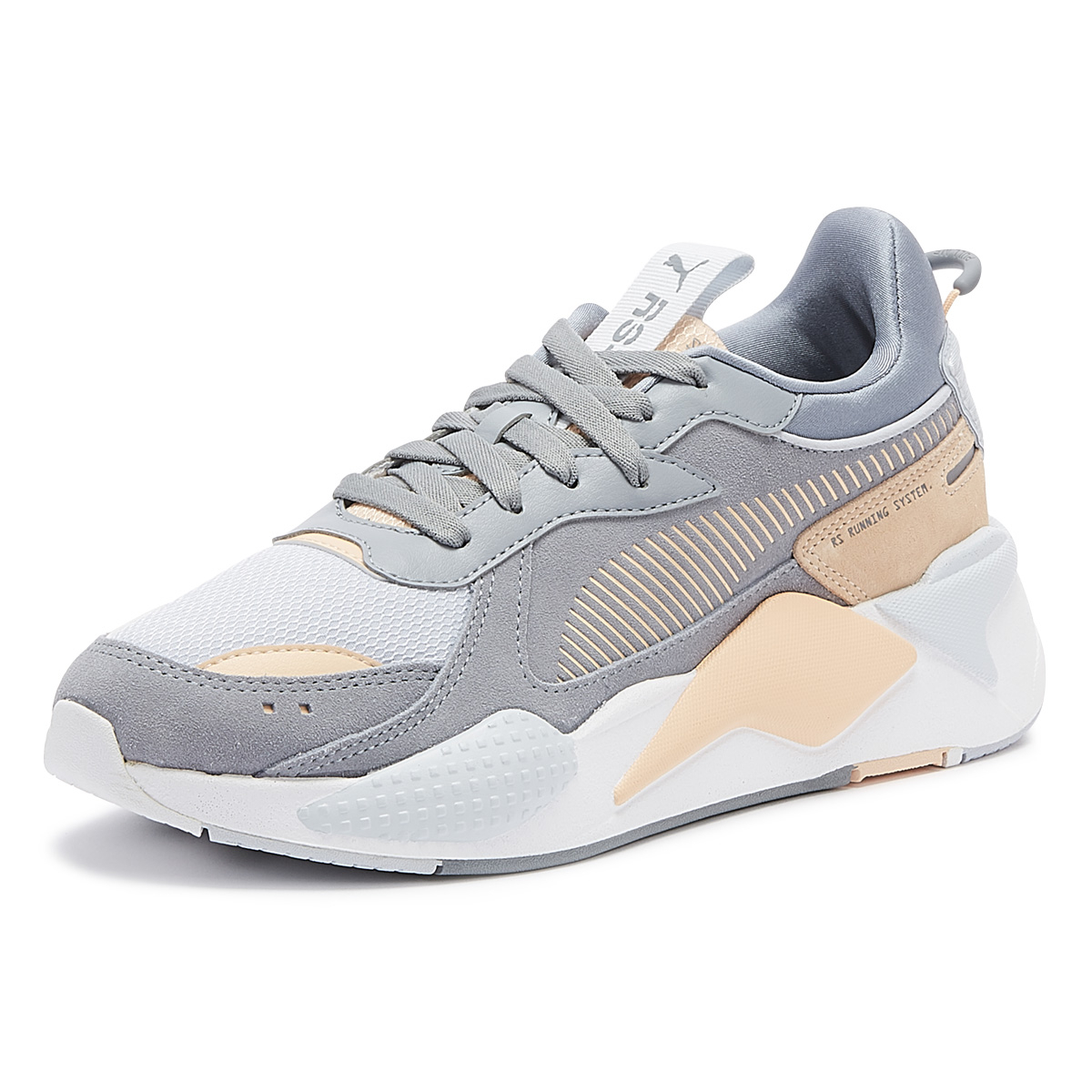 Details about PUMA RS X Reinvent Womens Tradewinds Grey Trainers Ladies Casual Shoes