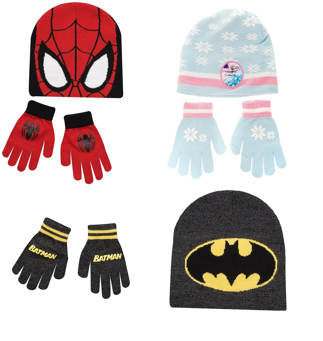 14be2c0c Spiderman Batman Frozen Hat & Gloves Kids 5-10 Years Winter Warm Set. One  Size ...