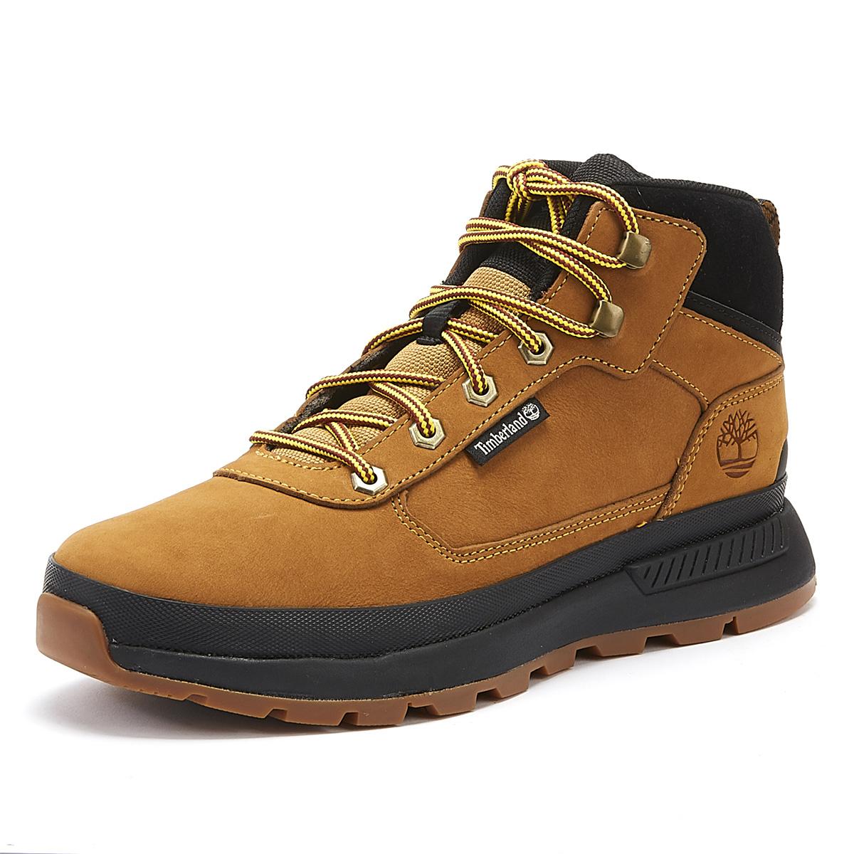 Details zu Timberland Field Trekker Mid Mens Wheat Yellow Black Boots Winter Shoes
