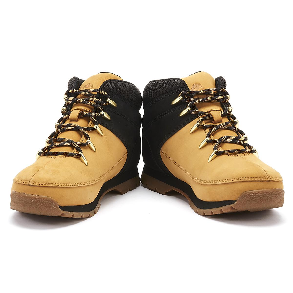 ansiedad patrocinado Para editar  Timberland Euro Sprint Hiker Junior Yellow / Black Boots Winter Shoes | eBay