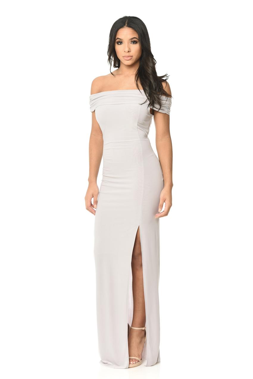 AX Paris Womens High Split Bodycon Maxi Dress, Ladies Evening Wear ...