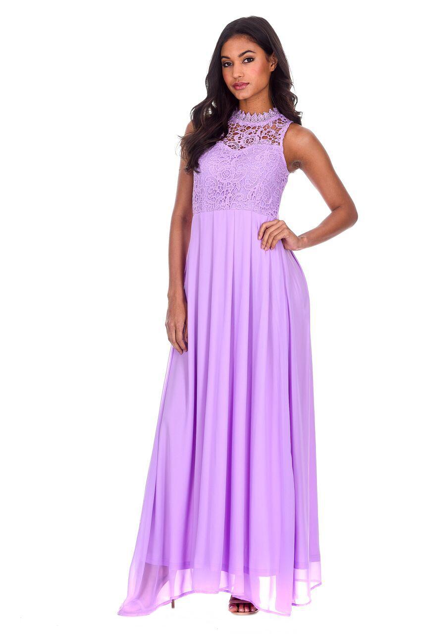 lilac maxi dress
