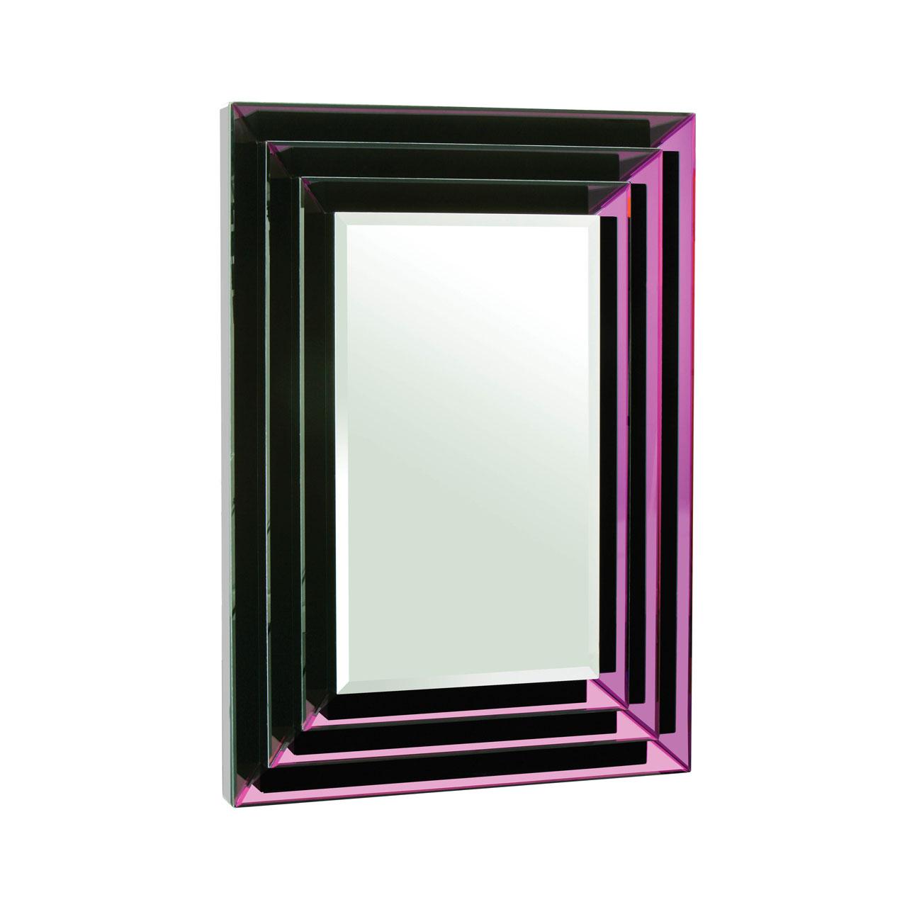 Wall Mirror Purple Mirrored Frame Rectangular Home Décor ...