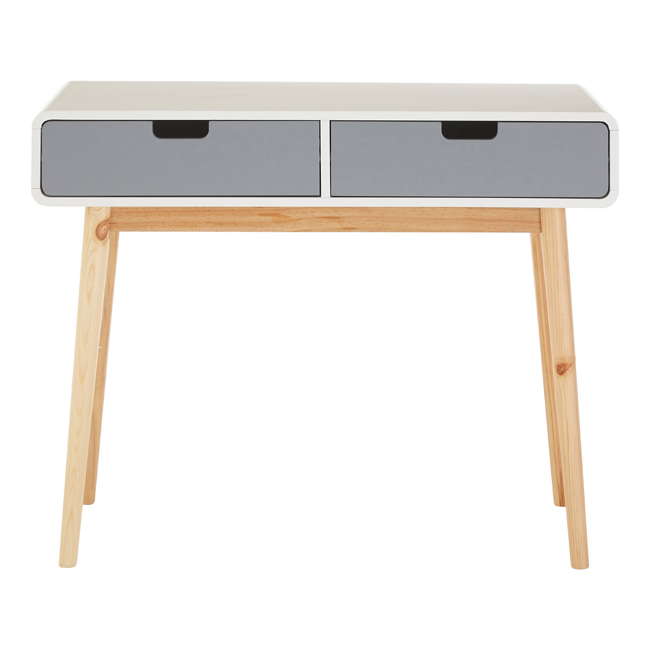 Milo Console Table White Grey Pine Wood Legs Bedroom Dressing Furniture