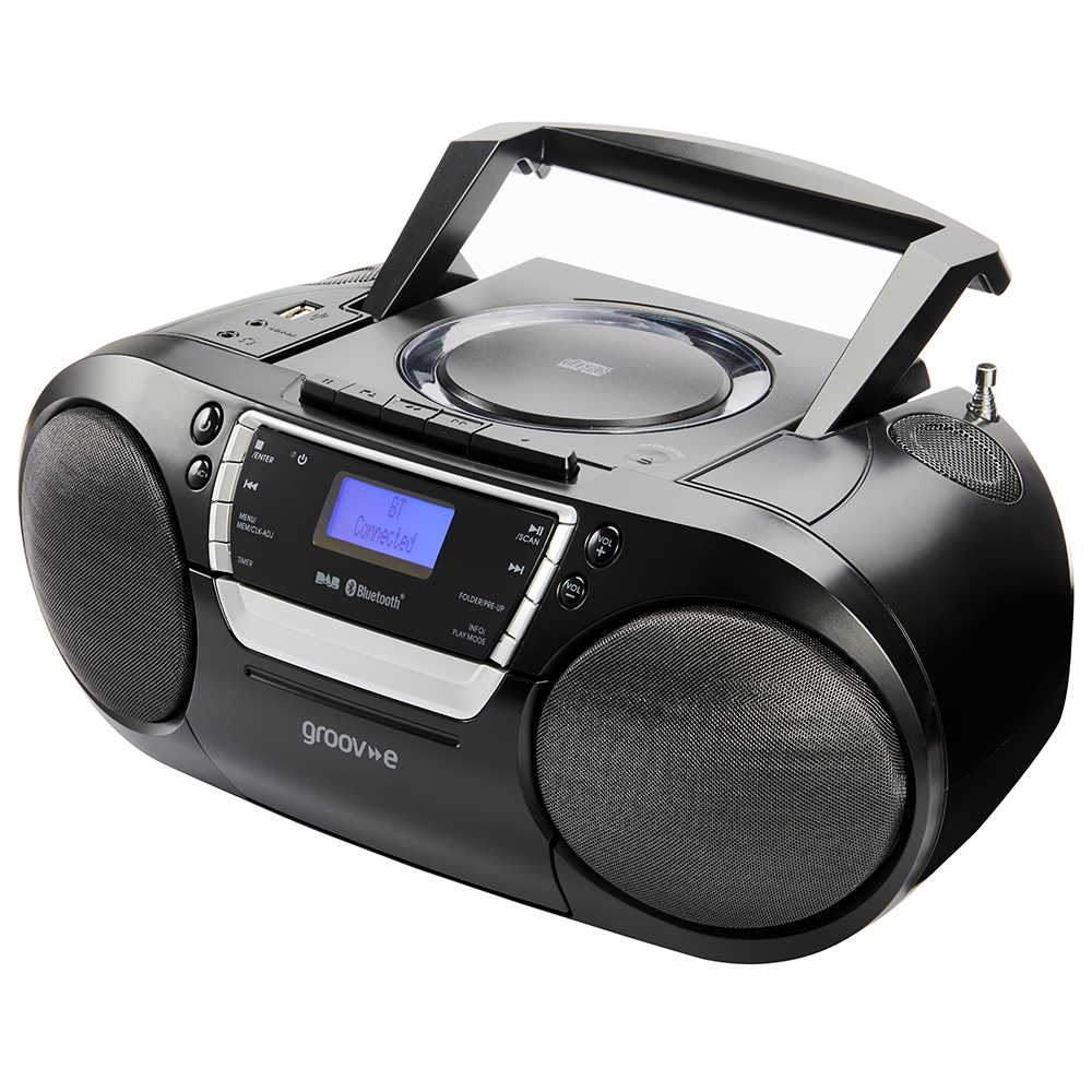 groov e ultimate bluetooth boombox portable cd cassette. Black Bedroom Furniture Sets. Home Design Ideas