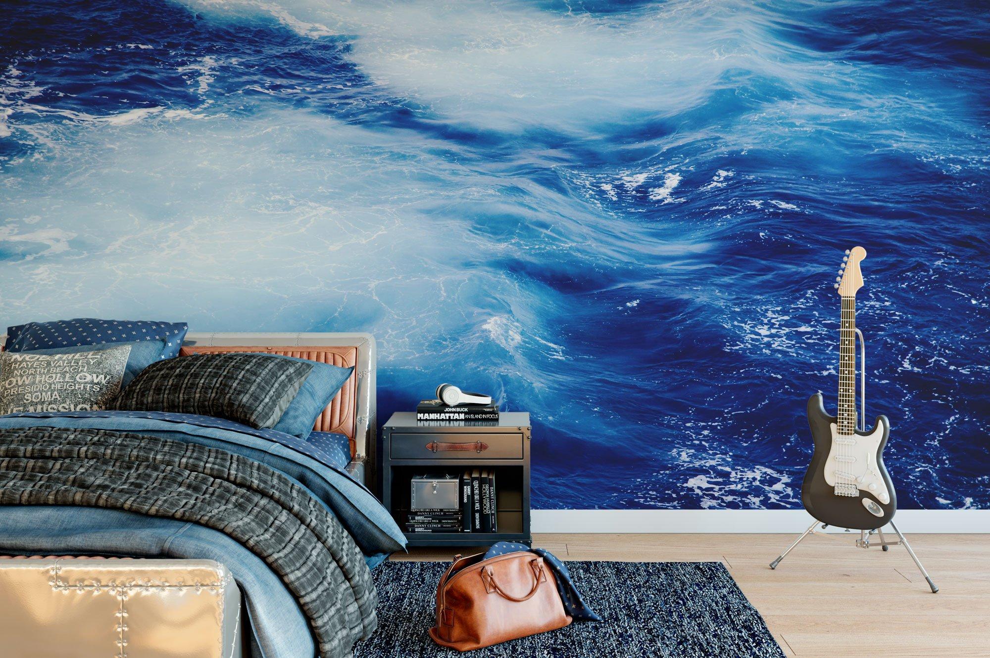360 Waves Wallpaper: Ocean Breeze Ocean Mural Wallpaper Photo Landscape Waves