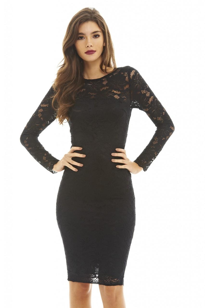932de5133d AX-Paris-Womens-Lace-Midi-Bodycon-Dress-Long-