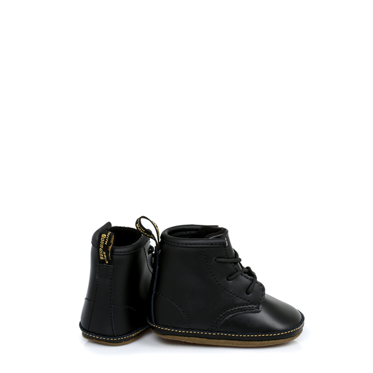 7575ba8dc9613 Dr. Martens Infant Baby Kids Boys Girls Docs Shoes Black Boots Leather Lace  Up