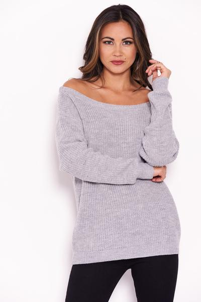 ca9761cb7643 AX Paris Womens Grey Cosy Jumper Ladies Casual Knitted Top