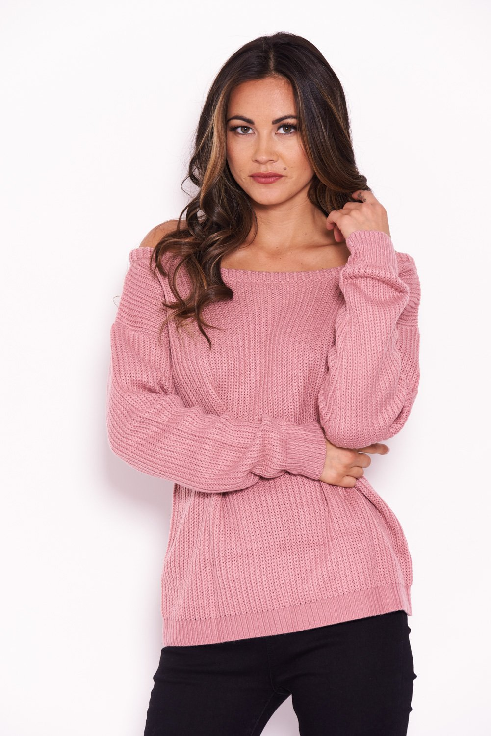 467cd0ba9ee AX Paris Womens Pink Cosy Jumper Ladies Casual Knitted Top