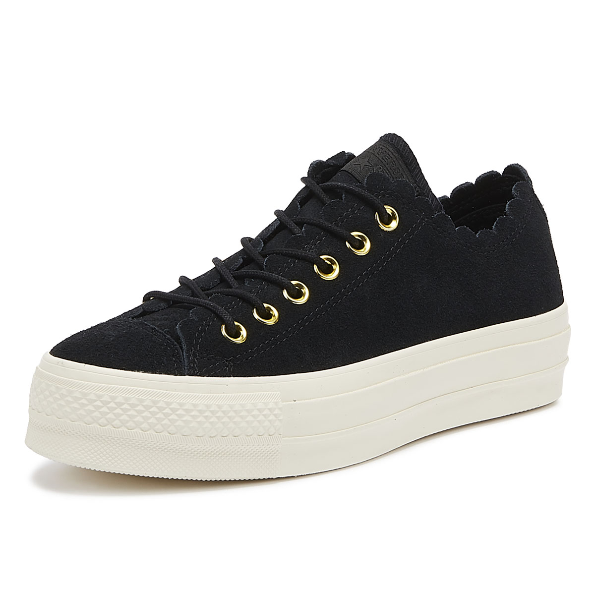 8d4bd6795938df Details about Converse Chuck Taylor All Star Lift Frilly Thrills Womens  Black Trainers Shoes