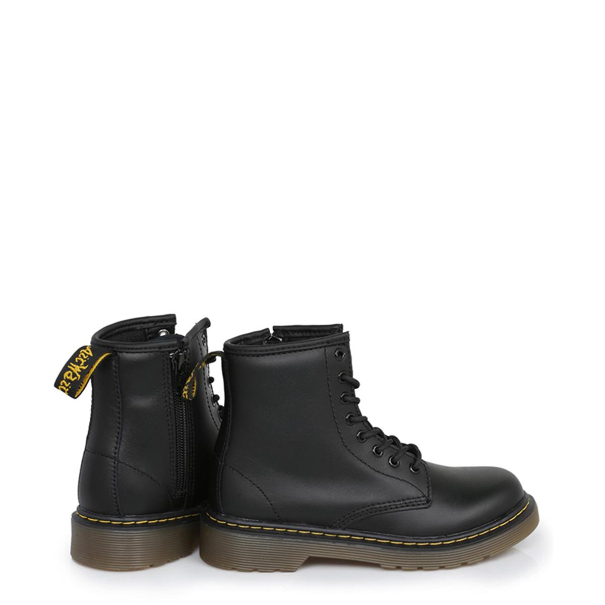 b109409133af Details about Dr. Martens Infant Girls Boys Kids Docs Boots Delaney Black  Leather Shoes Ankle