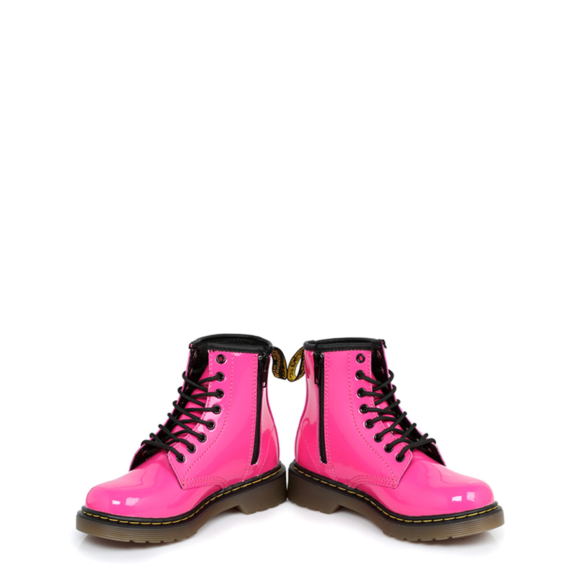 0dbf2ccf43 Dr. Martens Girls Kids Docs Boots Delaney Pink Leather Lace Up Ankle ...