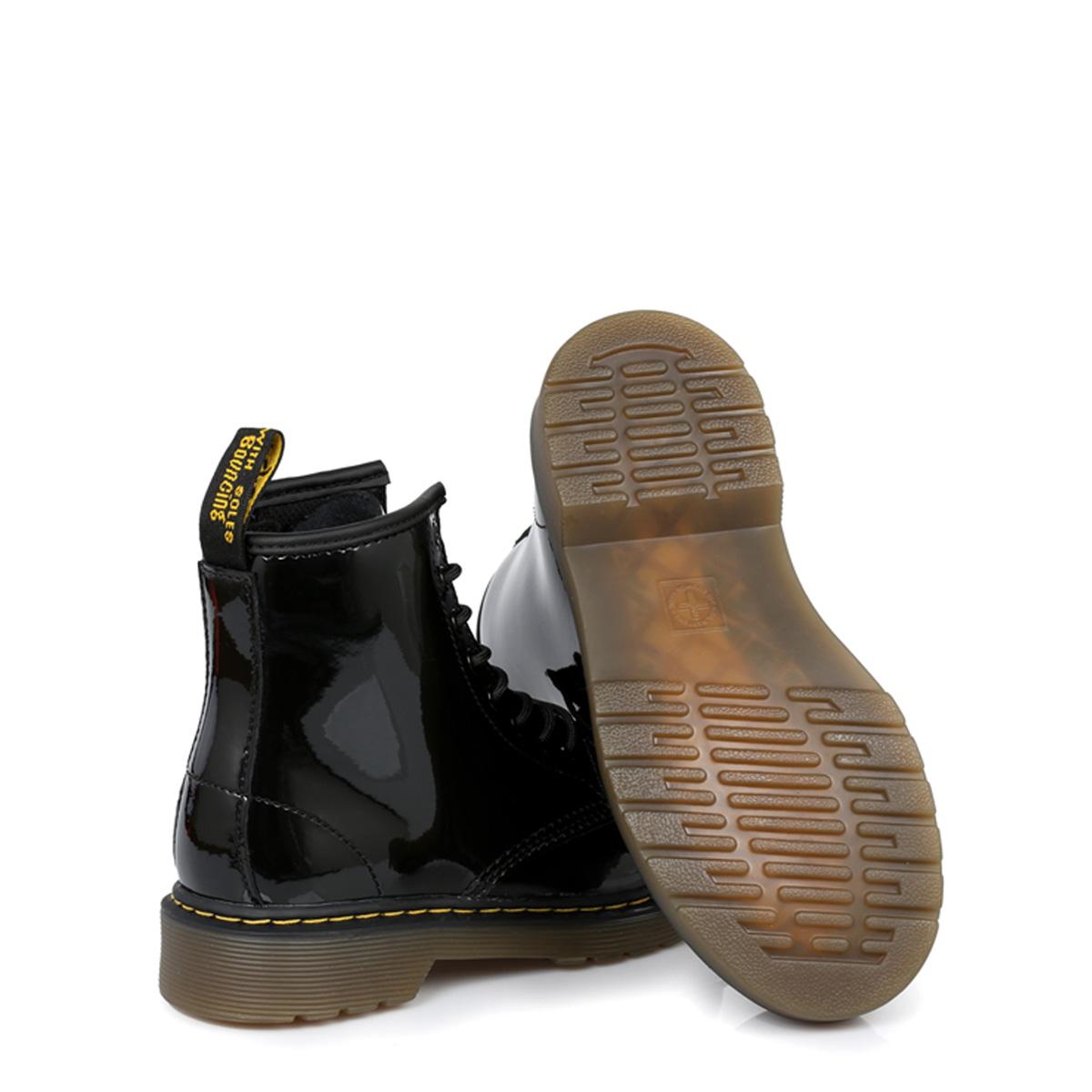 0b05b5ef21a6 Dr. Martens Infants Girls Boys Kids Docs Boots Black Leather Lace Up Ankle  Shoes