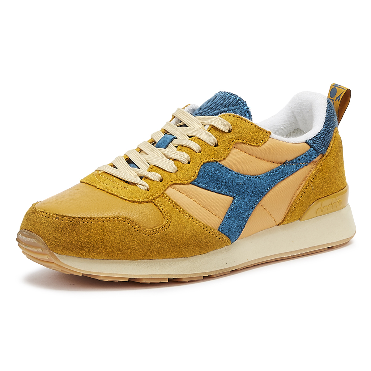 11665eb7 Details about Diadora Camaro Mens Orange Mustard Trainers Lace Up Sport  Casual Shoes