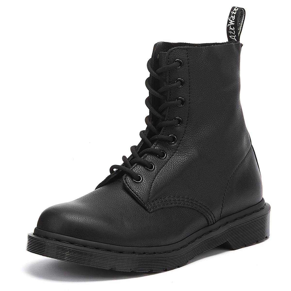 696275733805 Details about Dr. Martens 1460 Pascal Virginia Womens Mono Black Boots  Winter Leather Shoes