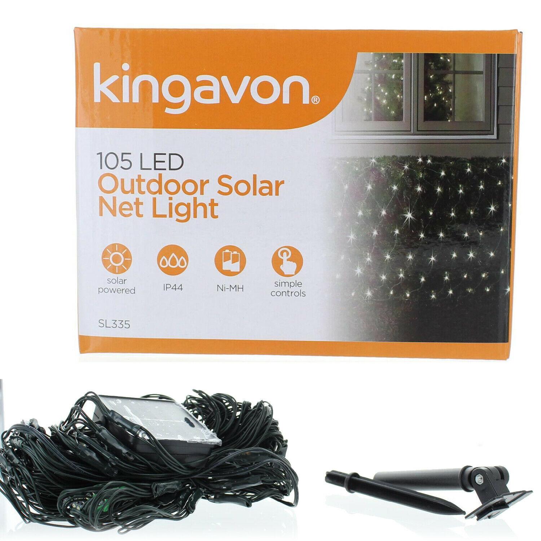 100 Led Solar Net Lights White Outdoor Garden Decoration
