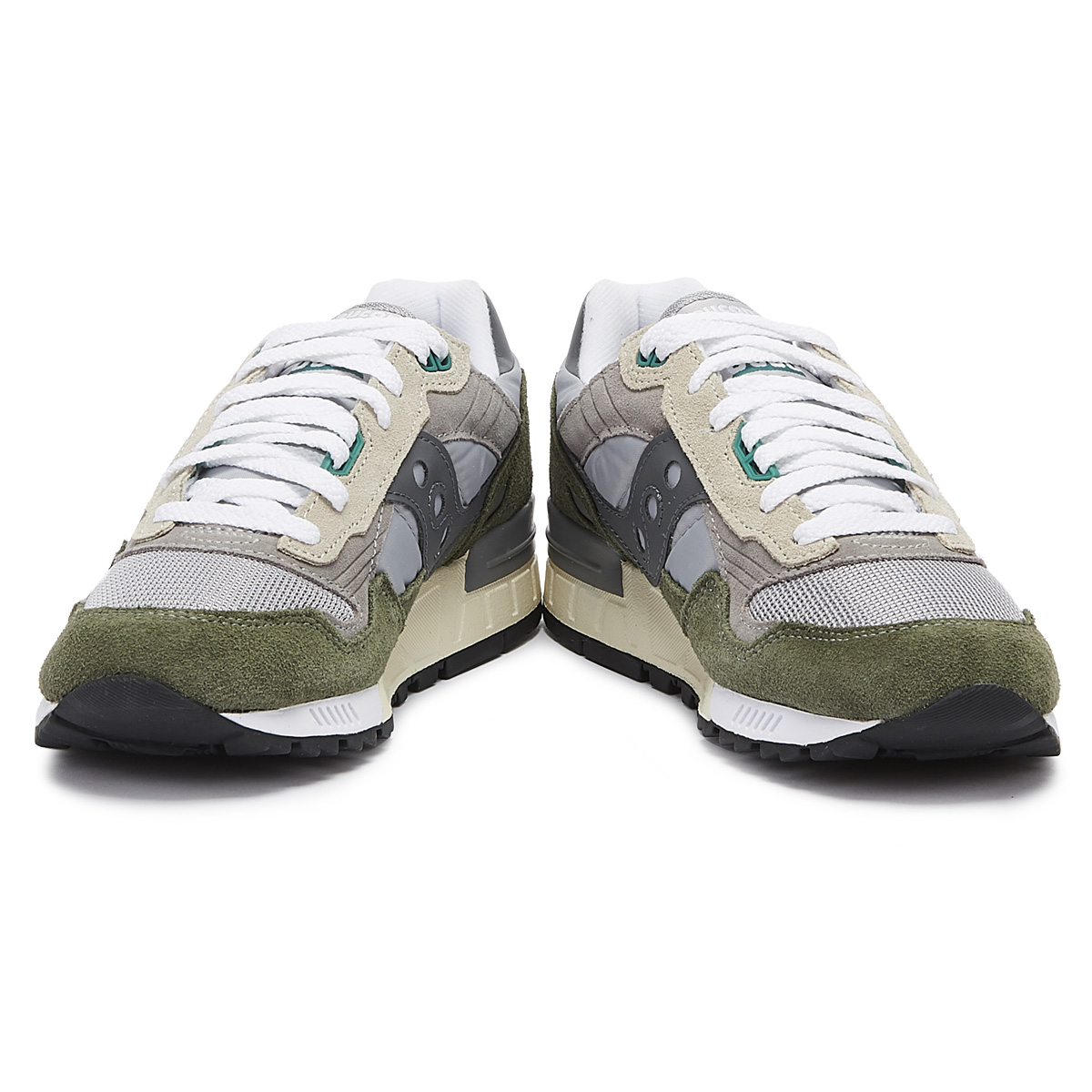 35ae6d8a Details about Saucony Shadow 5000 Vintage Grey / Green Trainers Sport  Casual Lace Up Shoes