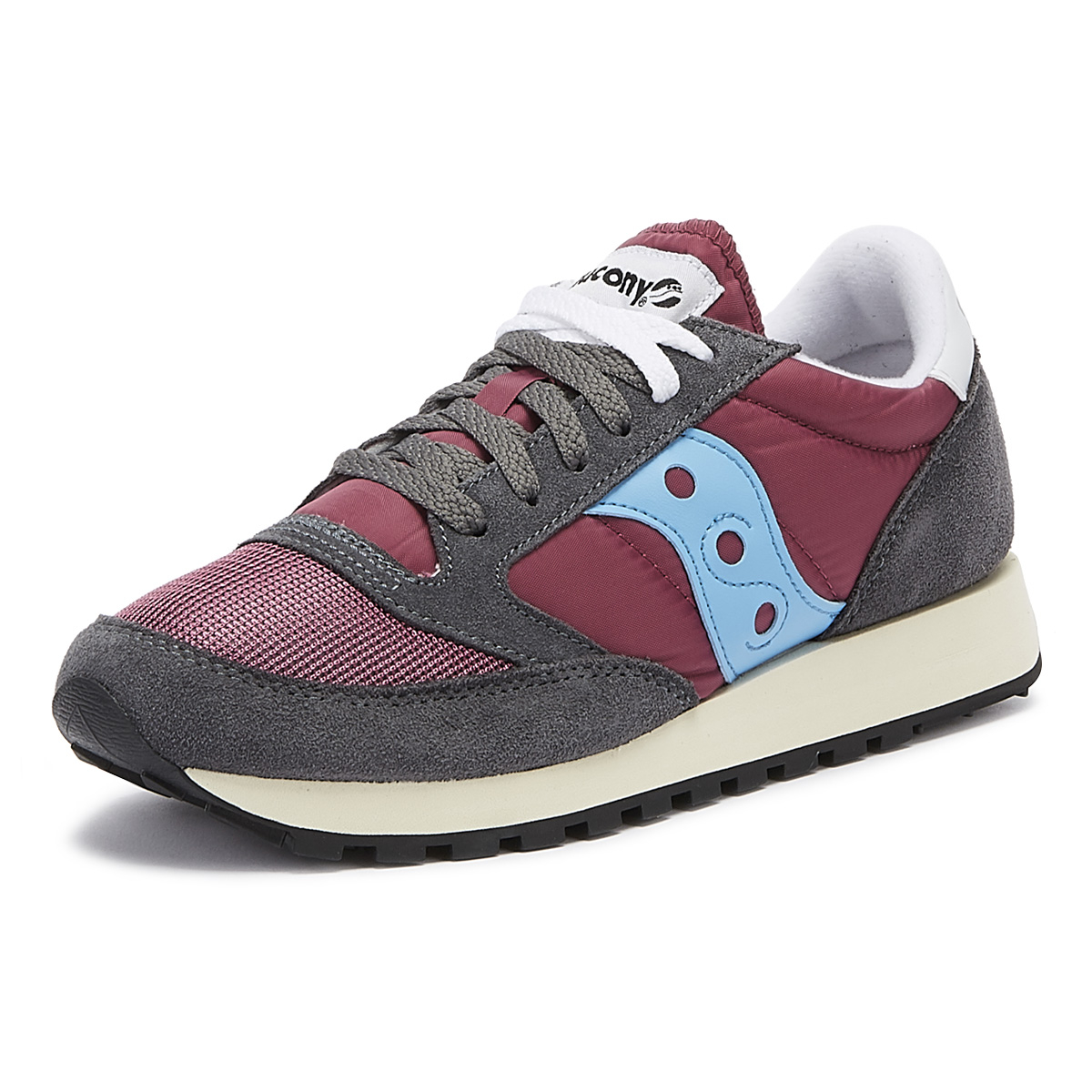 cda1f1d51a Details about Saucony Jazz Original Vintage Mens Purple / Grey / Blue  Trainers Casual Shoes