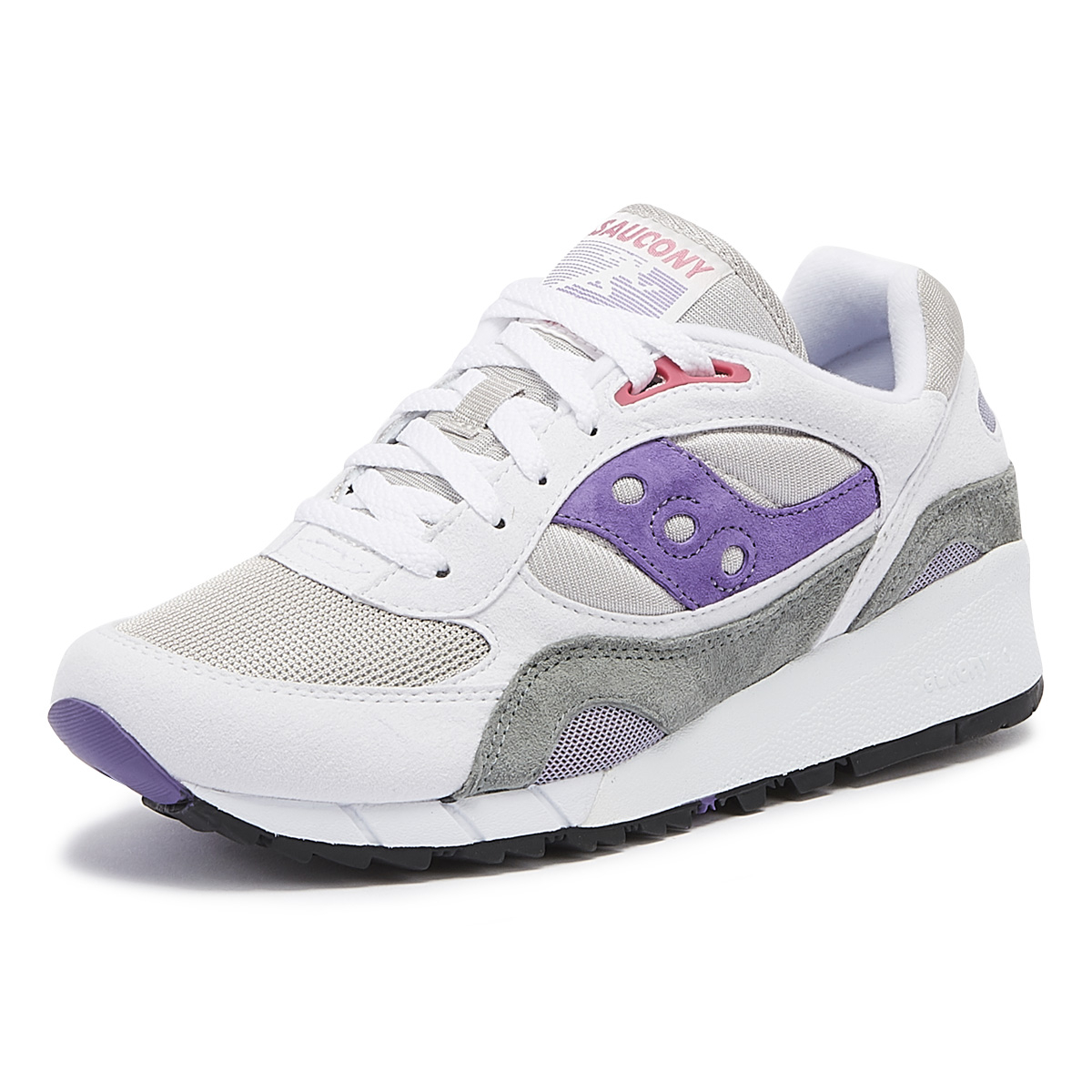 timeless design 3130b 44487 Details about Saucony Shadow 6000 White & Grey & Purple Trainers Lace Up  Sport Casual Shoes
