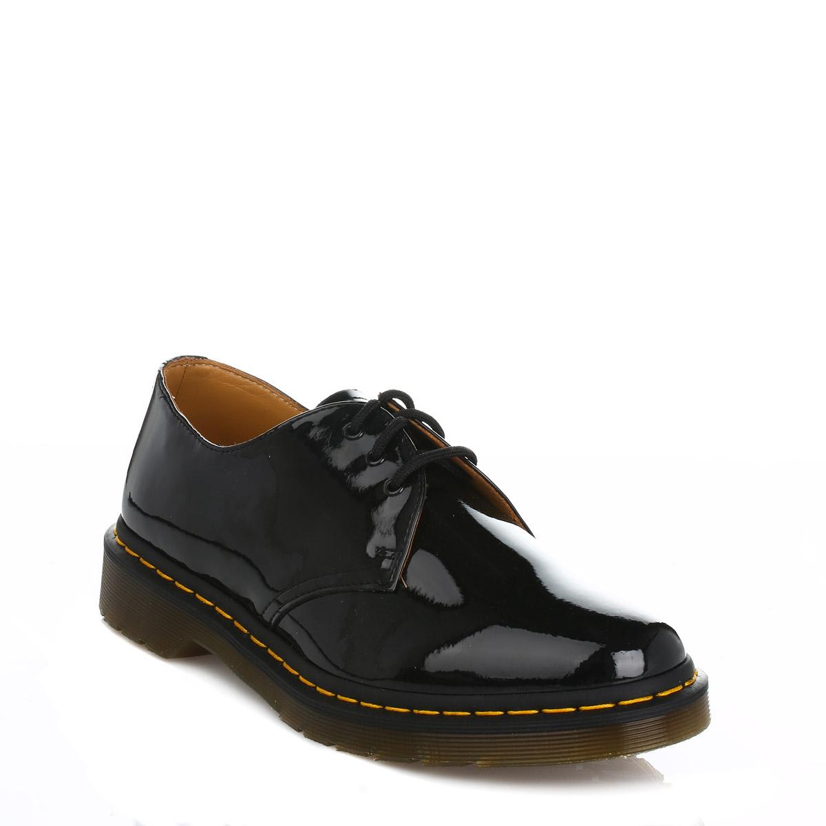 597012b7f07 Details about Dr. Martens Womens Black 1461 Derby Shoes