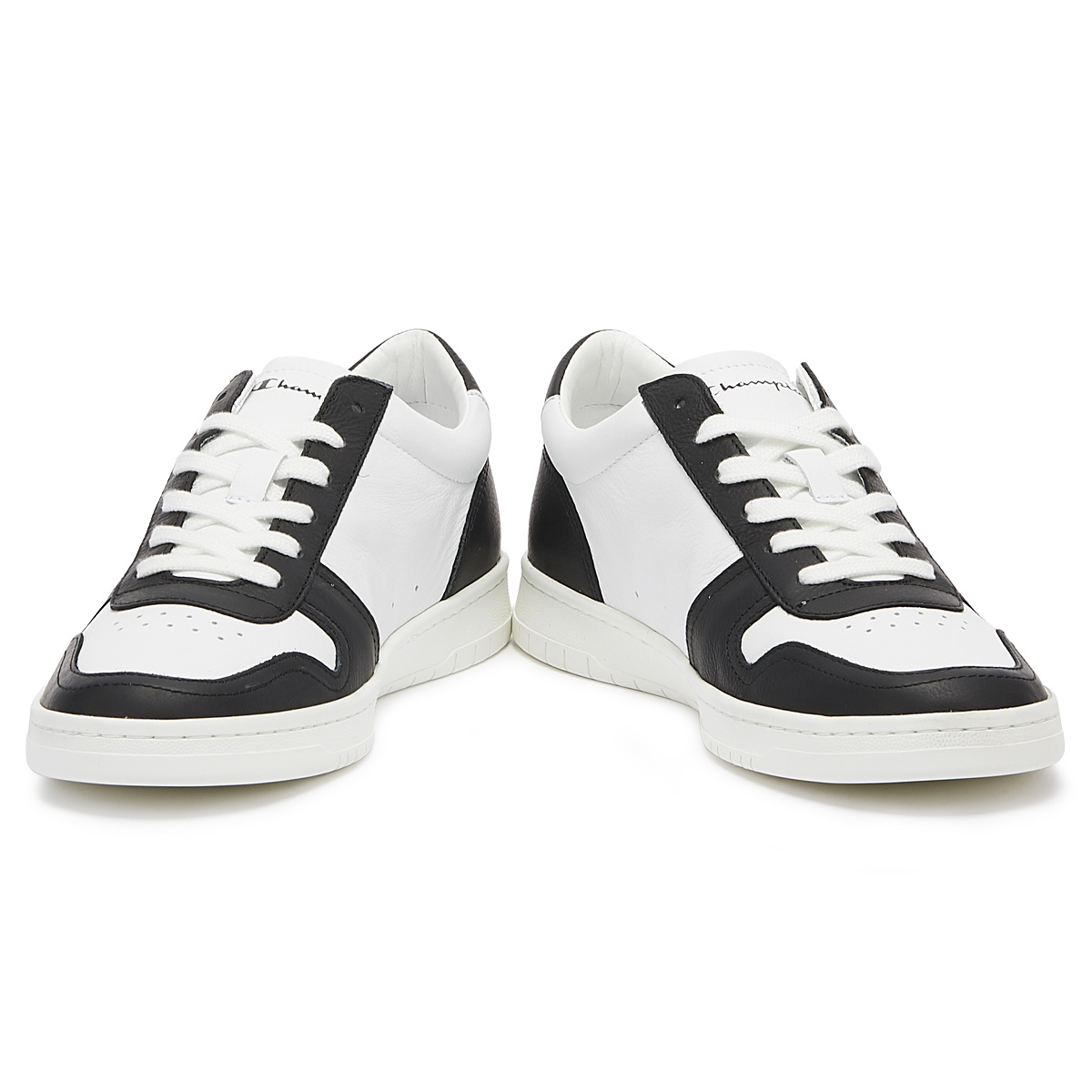 11fad2023aad5 Champion 919 Roch Low Mens White   Black Trainers Lace Up Sport Casual Shoes