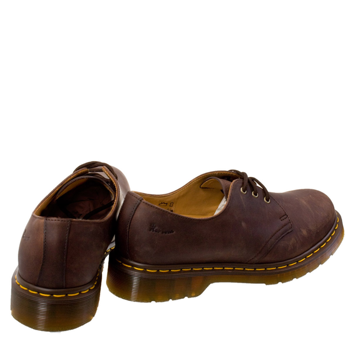 b979bc27f43 Details about Dr. Martens Unisex 1461 Shoes, Crazy Horse Gaucho Brown,  Leather, Lace Up, Docs