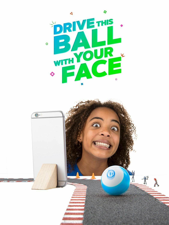 Sphero Mini App Enabled Ball Robot Blue Face Drive, Play