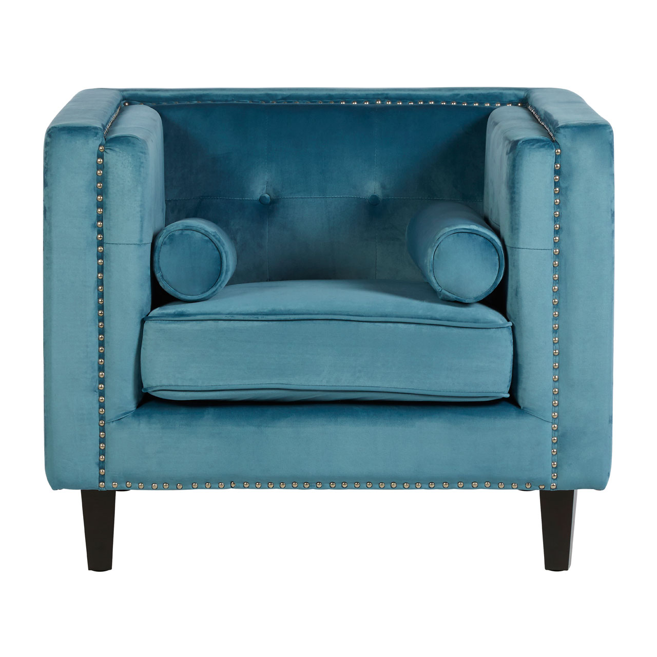Fine Details About Felisa Chair Blue Velvet Stud Button Detail Living Room Armchair Furniture Alphanode Cool Chair Designs And Ideas Alphanodeonline
