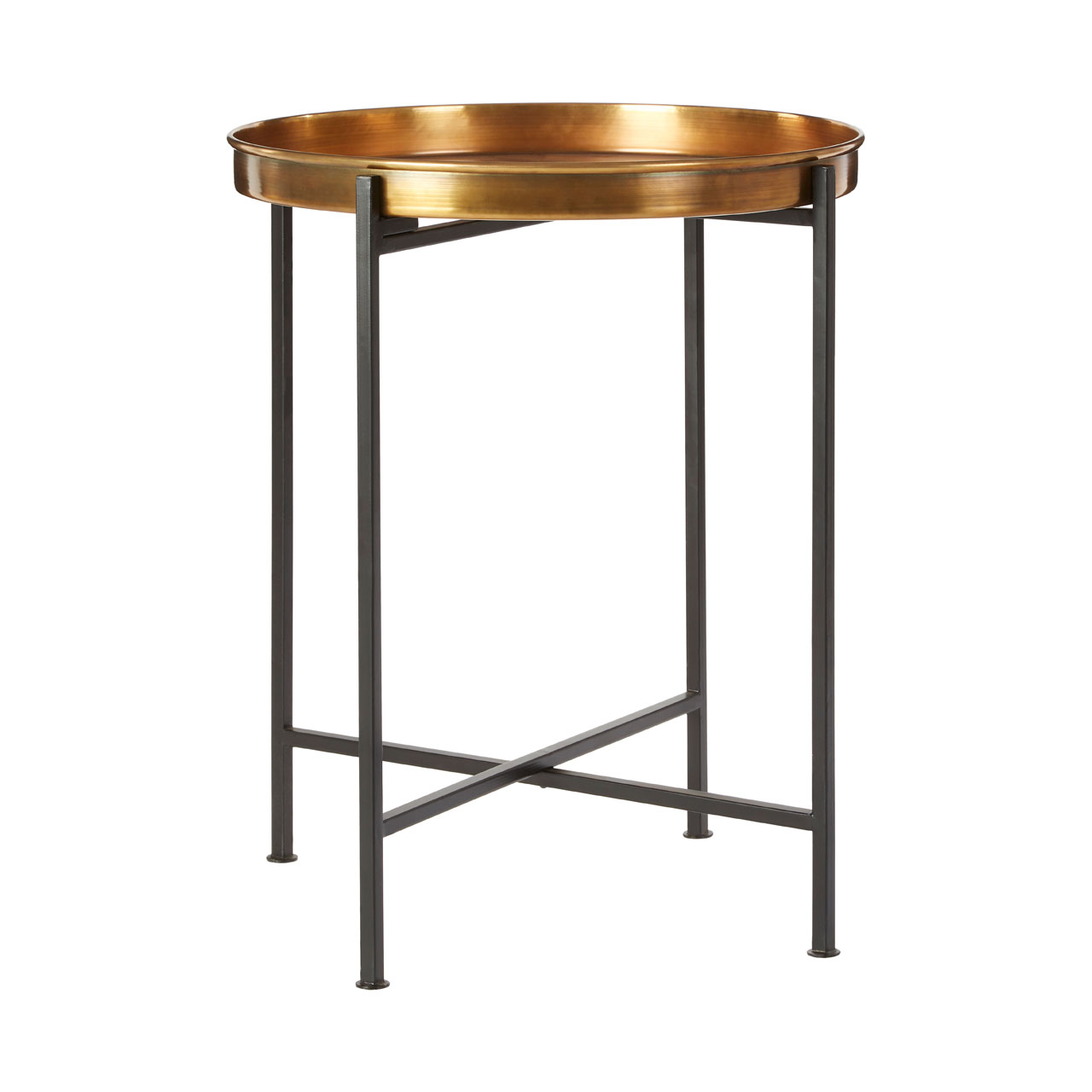 Hege Side Coffee Table Black Brass Small Living Room Home