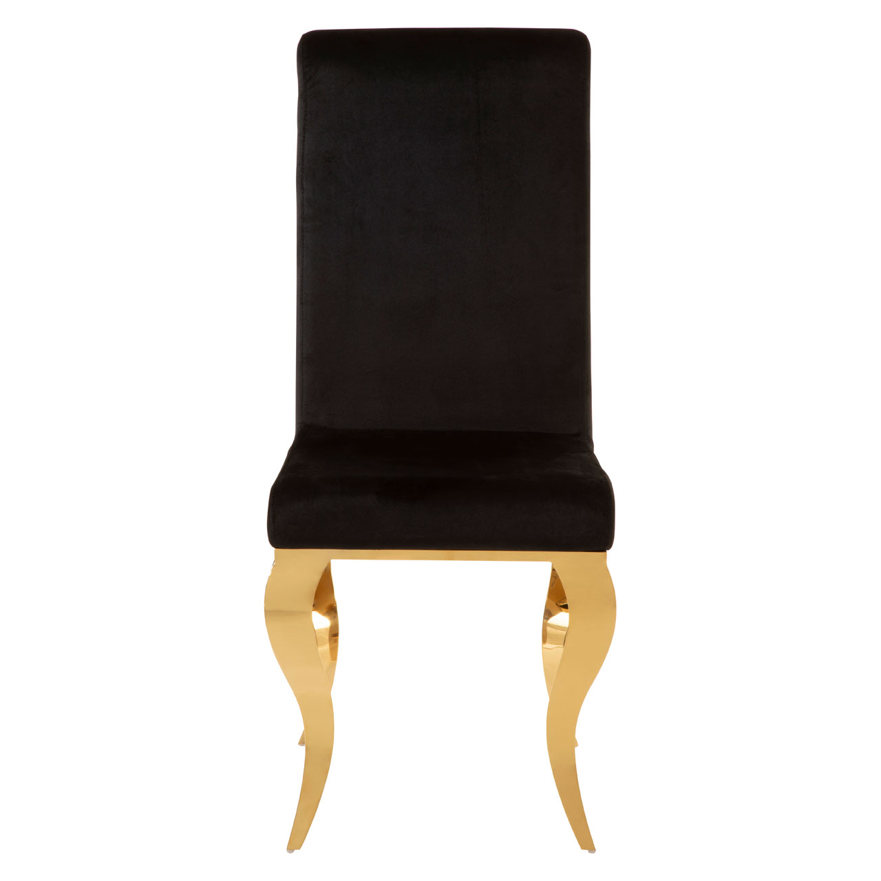 Picture of: Eliza Dining Chair Black Velvet Gold Stainless Steel Frame Living Room Ebay