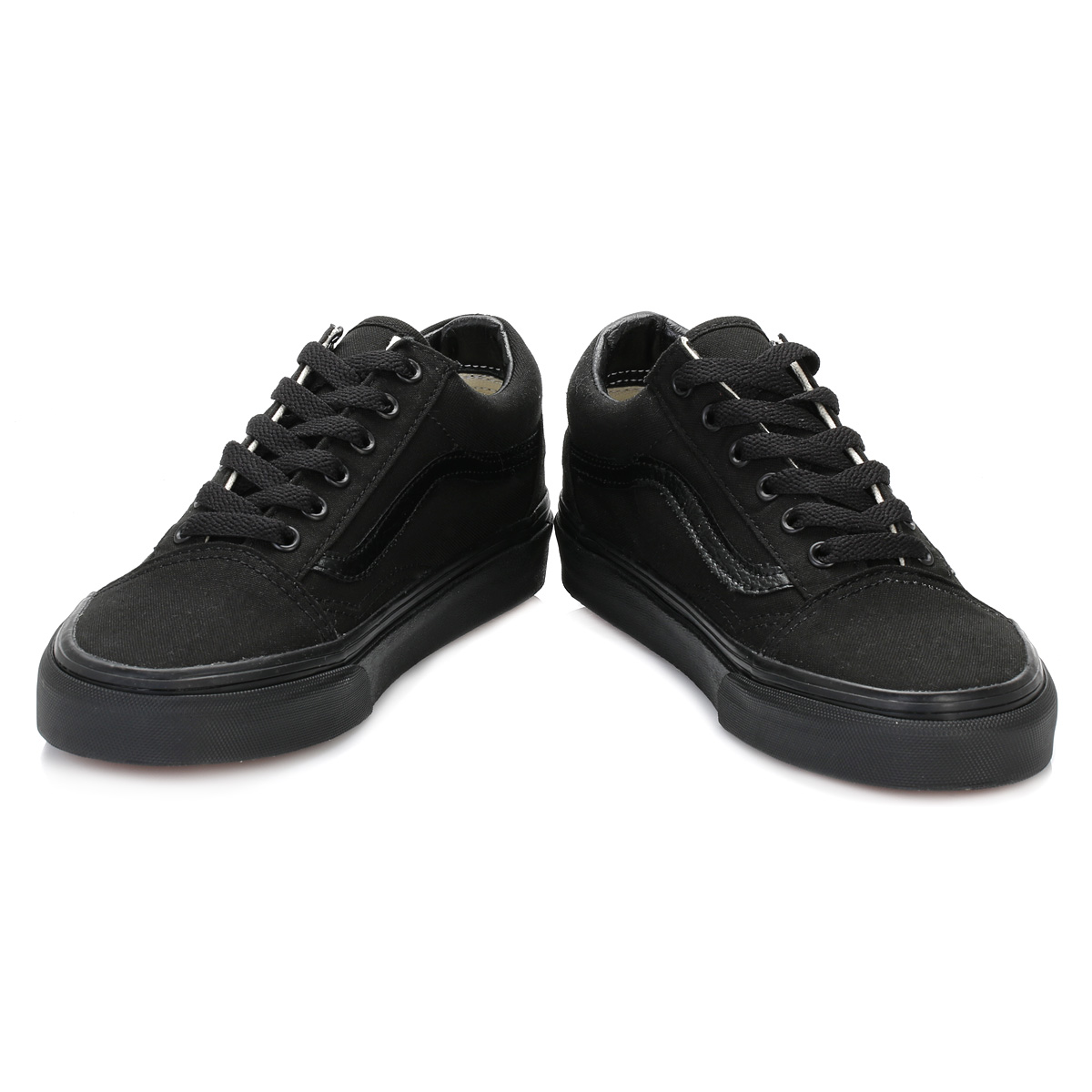 7ac791a21ad Vans Mens Womens Trainers Canvas Lace Up Old School Black Casual ...