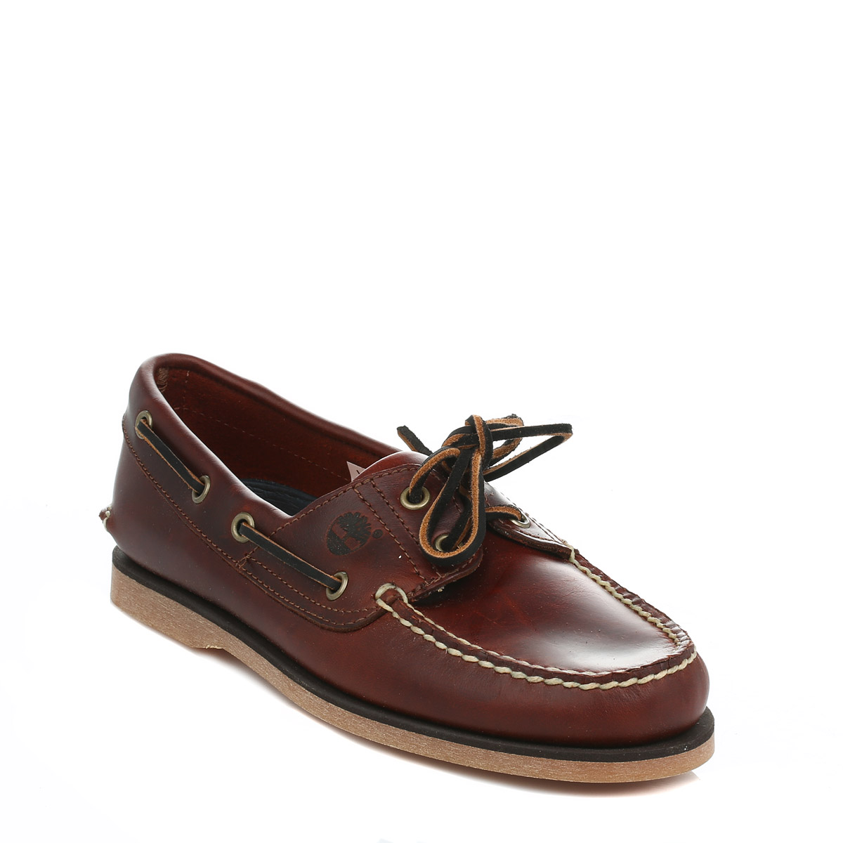Details about Timberland Mens Classic Dark Brown Boat Shoes, Rootbeer SM, Leather, Lace Up