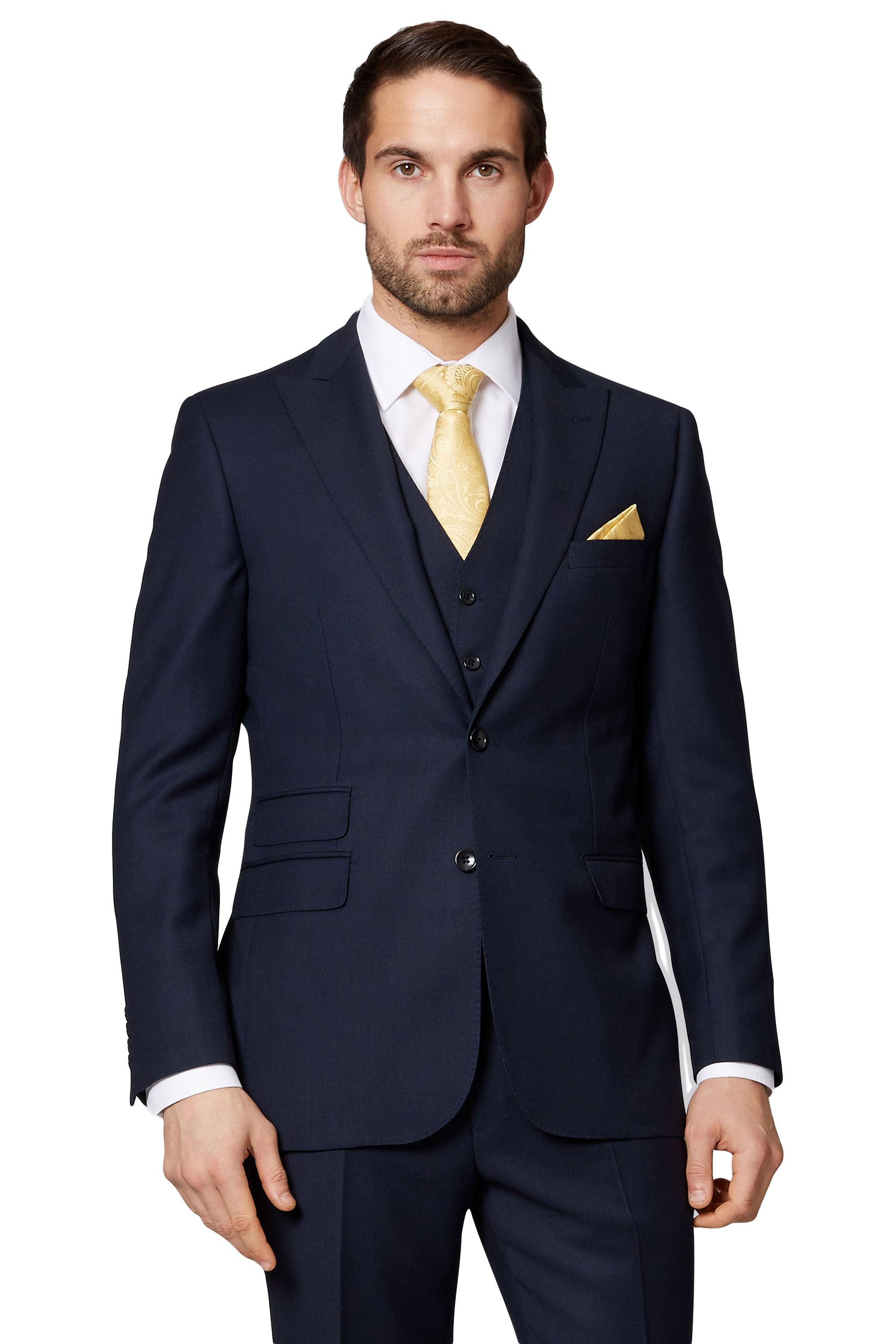 d4219094a7 Details about Savoy Taylors Guild Mens Navy Blue Birdseye Suit Jacket  Single Breasted Wool