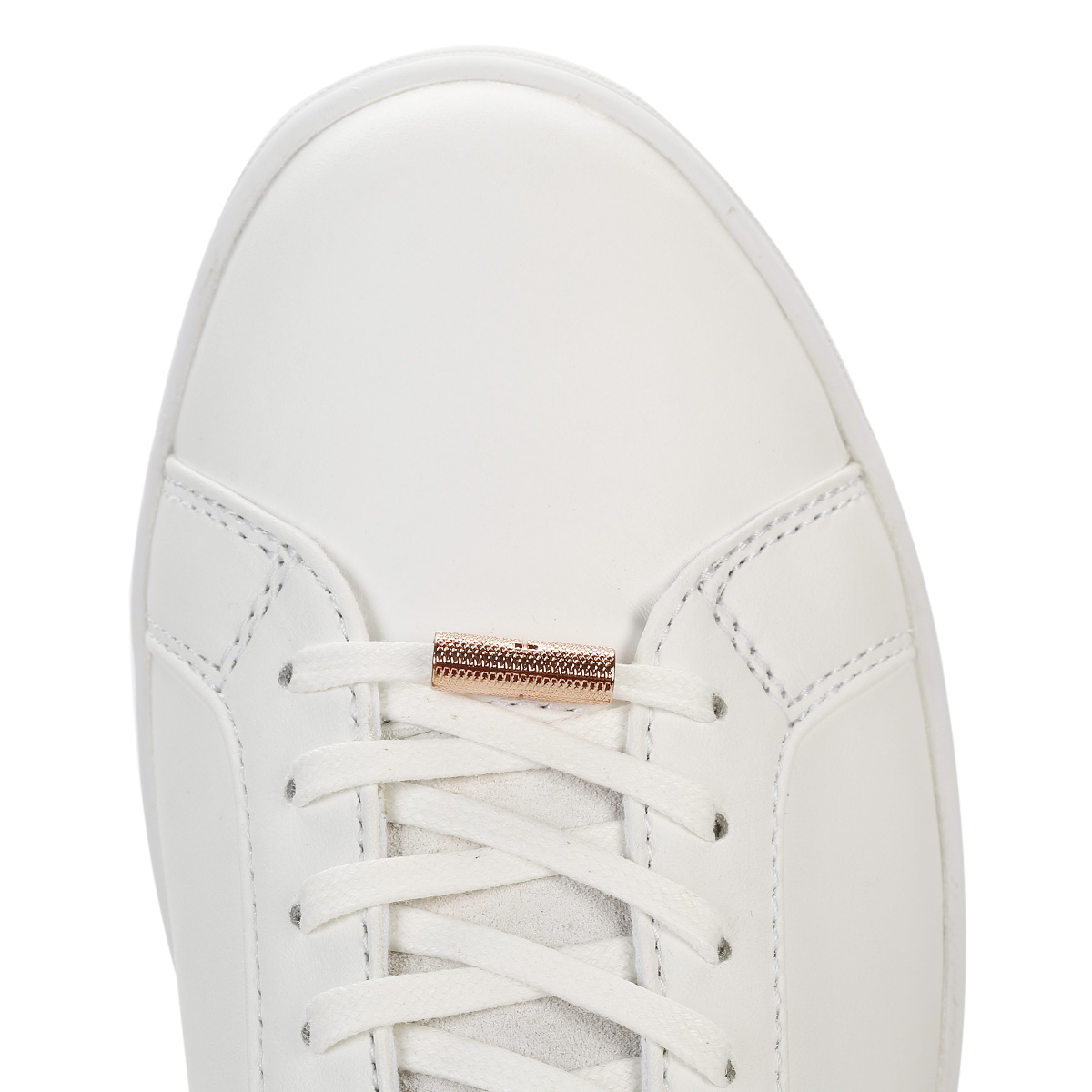 34de908c6c24 Ted Baker Womens Trainers White Rose Gold Kulei Stylish Shoes Casual Flats